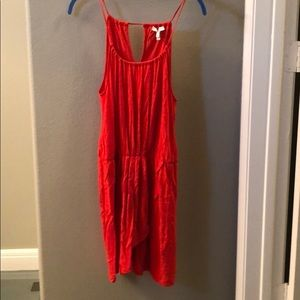 Red joie cotton dress